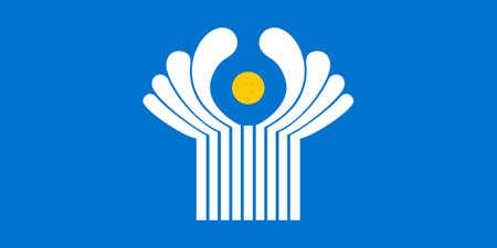 Commonwealth of Independent States bandeira CIS isolado vector original e simples nas cores oficiais e Propor Ilustra��o