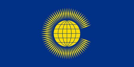 original e simples Commonwealth of Nations CIS bandeira isolado do vetor em cores oficiais e Propor Ilustra��o