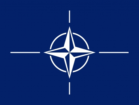 original and simple North Atlantic Treaty Organization  NATO  flag  isolated vector in official colors and Proportion Correctly