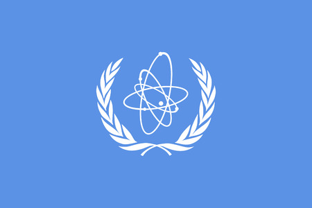 original and simple International Atomic Energy Agency flag  IAEA  isolated vector in official colors and Proportion Correctly Vector