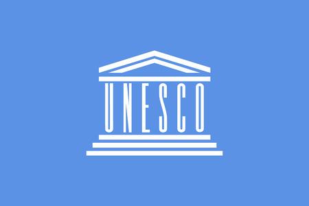 nações: original e simples Nações Unidas para Educação, bandeira a Ciência ea Cultura UNESCO isolado do vetor em cores oficiais e Proporção corretamente Ilustração