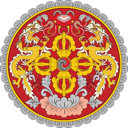 landlocked country: aislado vector original y simple But�n emblema en colores oficiales y Proporci�n correctamente
