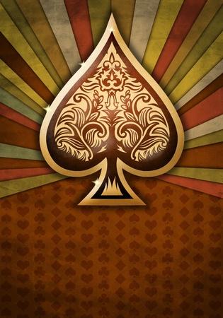 Abstracte achtergrond met poker spade