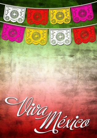 ビバ メキシコ ポスター 写真素材