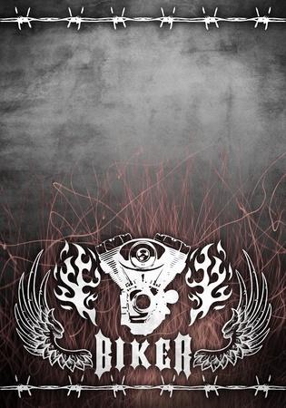 abstract ontwerp motorfiets grunge poster