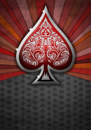 Abstract background with poker spade photo