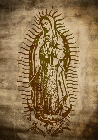 virgen maria: Manto de la Virgen de Guadalupe Foto de archivo