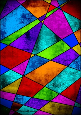 colorful vitral background Stock Photo
