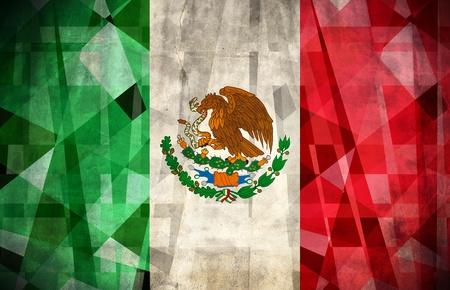 bandera mexicana: Bandera de grunge antiguo de México Foto de archivo