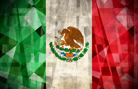 Old grunge flag of Mexico
