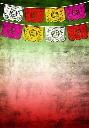 bandera mexicana: la decoración tradicional de Mexico, 5 de mayo Foto de archivo