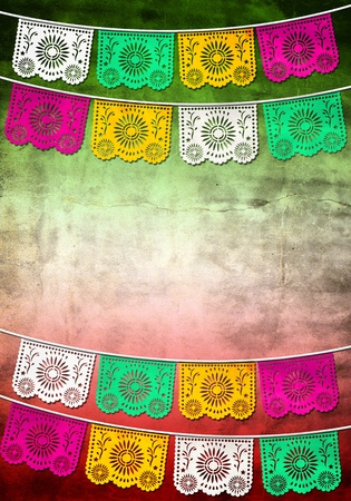 bandera mexicana: la decoraci�n tradicional de Mexico