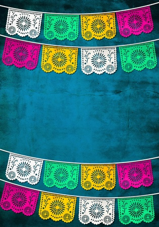 traditional Mexican paper decoration photo