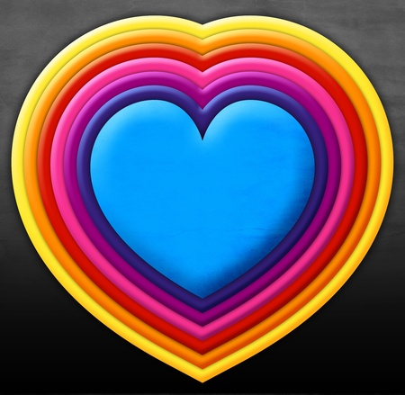 emotional love: Rainbow Heart Stock Photo