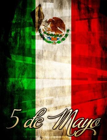s Cinco de Mayo poster, kaartmalplaatje Stockfoto