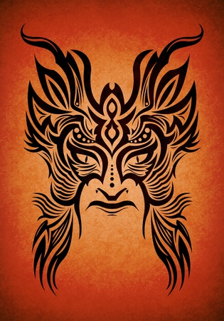 Decorative tribal mask Maya-aztec Stock Photo - 13443176