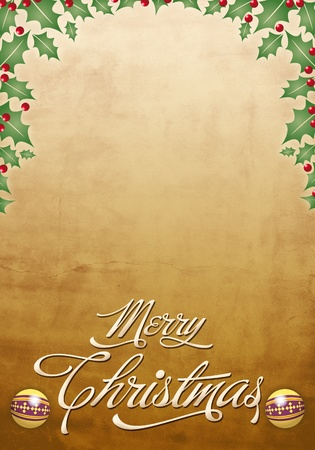 Christmas poster - template photo
