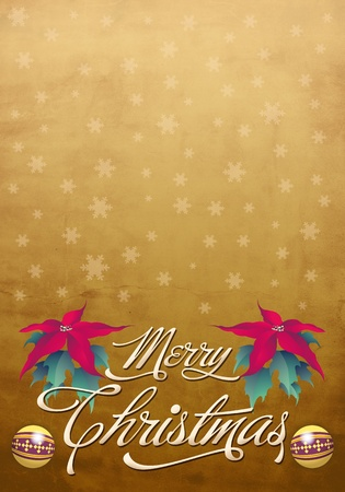 Christmas vintage poster - template photo