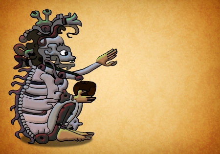 mayan prophecy: Ah Puch Ancient mayan god - shaman - 2012 prophecy