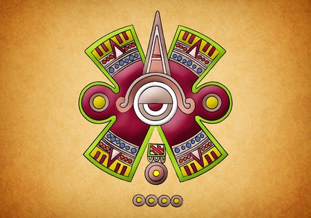 Mayan symbol on texture background photo