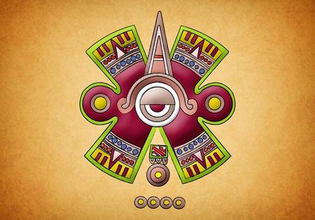 Mayan symbol on texture background Stock Photo - 13491003