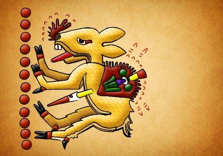 Ancient toltec - Mayan deer Stock Photo - 13491000