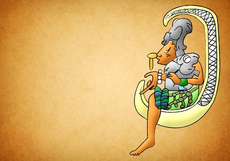Ix Chel mayan - aztec goddess of moon and fertility Stock Photo - 13490995