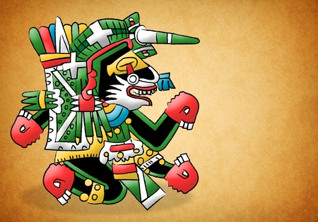 Mayan - Aztec Representation of a dog Stock Photo - 13490998