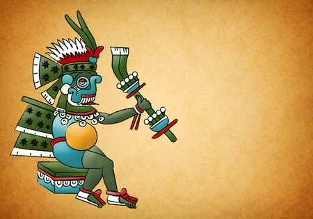 Tlaloc Mayan - Aztec deity of water and rain photo