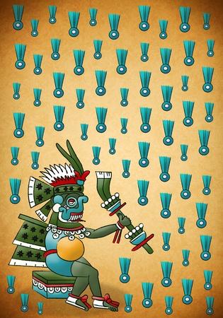 Tlaloc Mayan - Aztec deity of water and rain photo