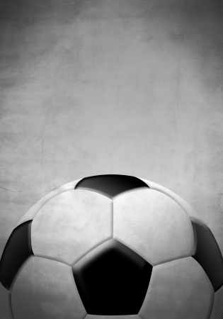 Soccer   football ball on a gray background