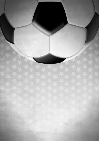 Soccer   football ball on a background with stars photo
