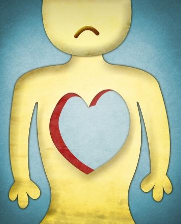 desolation:  Heartless sad character