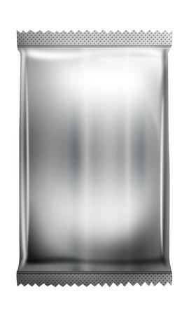 foil: Alluminio - Pacchetto Borsa metallica isolato su sfondo bianco