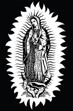 Dziewica z Guadalupe Ilustracje wektorowe
