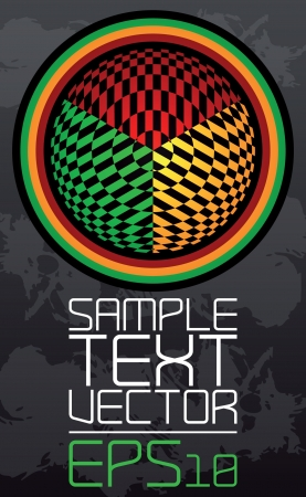 Abstract retro technology - Poster template - vector - rastafarian colors Stock Vector - 17018481