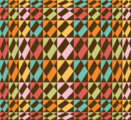 tillable: Geometric seamless background, vintage - retro colors - vector