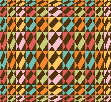 Geometric seamless background, vintage - retro colors - vector Stock Vector - 17018476