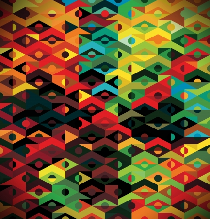 Abstract Ethnic Geometric Pattern - background Stock Photo - 17226306
