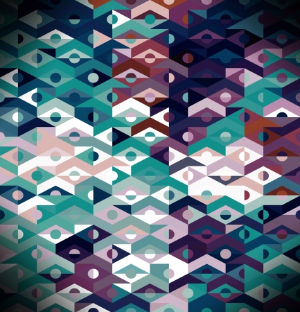 Abstract Ethnic Geometric Pattern - background Stock Photo - 17226276
