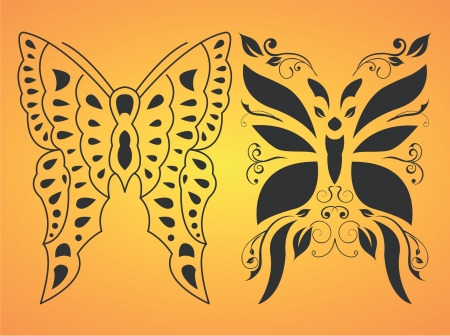 Tribal vector butterfly tattoo