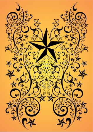 Stars tribal art,  illustration - tattoo Vector