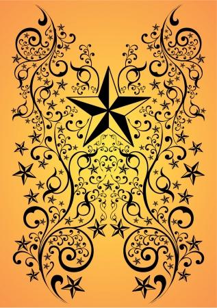 Sterren tribale kunst, illustratie - tattoo Stock Illustratie