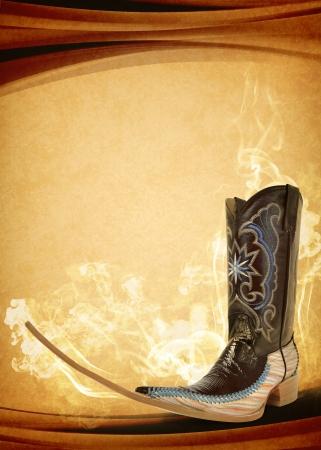 Vintage Mexicaanse puntige boot poster - Mexicaanse tribale muziek clubbing