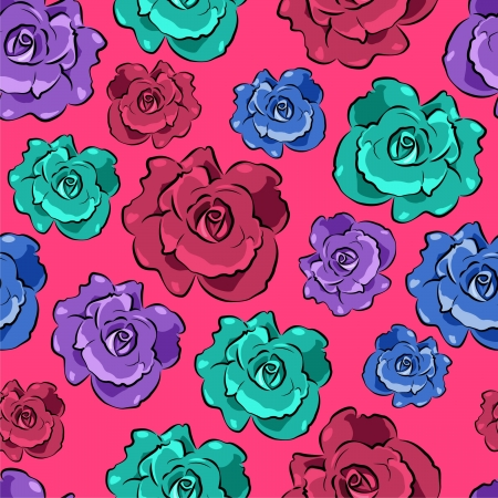 Seamless colorful floral pattern Stock Vector - 18138178