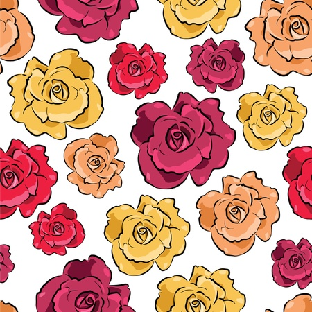 Floral vivid seamless pattern with colorful flowers  vector