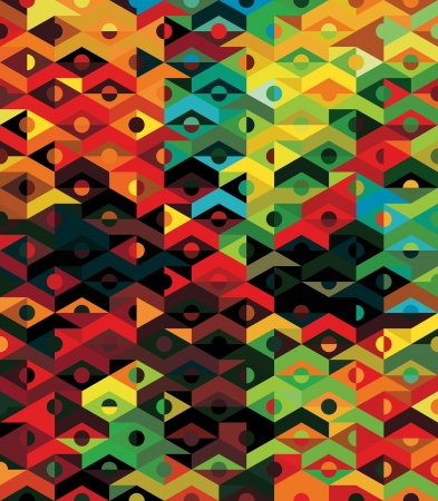south: Vector Abstract Ethnic Geometric Pattern - background