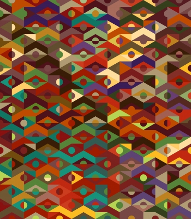 Abstract Ethnic Geometric Pattern - background african Vector