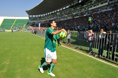 conducted: LEON GUANAJUATO, MEXICO - DECEMBER 14: Rafael Marquez is officially presented as new player of CLUB LEON, conducted a press conference and an event for the fans on December 14 2012 at ESTADIO LEON. Editorial