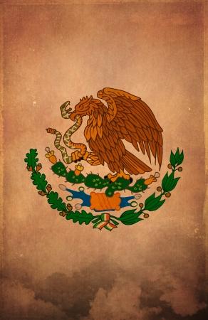drapeau mexicain: Mexicaine Grunge fond d'affiche - carte - conception